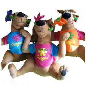 Peluche Scooby Doo 30 cm con t-shirt e fiore colori assortiti *10394 pelusciamo store