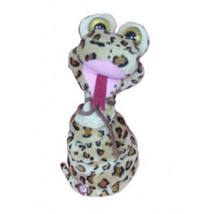 Peluche serpente marroncino con collo lungo - 34 cm | Pelusciamo.com