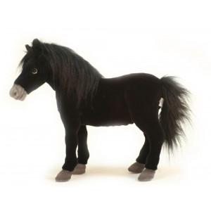 Peluche Cavallo Black Stallion 50 Cm Realistico Peluches Hansa PS 07540