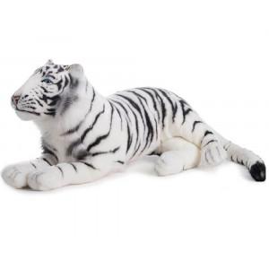 Peluche Tigre Bianca Sdraiata 76 Cm Peluches Hansa PS 07596 pelusciamo store