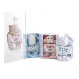 Peluche Zerotre Baby on Board Rosa O Azzurro Venturelli PS 08807 Pelusciamo Store Marchirolo
