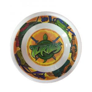 Piatto fondo in melamina Tartarughe Ninja 25 cm. *02075 pelusciamo