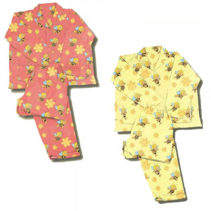 Pigiama Bambina Invernale Ape Maia in cotone felpato, Abbigliamento Cartoon | pelusciamo.com
