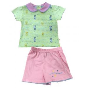 Pigiama bambina corto giallo rosa Baby Looney Tunes *13521