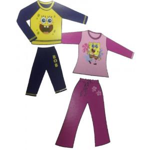 Pigiama Spongebob nickelodeon Maglia e Pantaloni Bimbo *03318 pelusciamo.com
