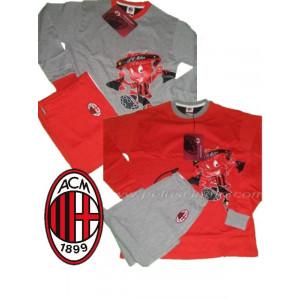 Abbigliamento ACM 1899 Milan Tuta Pigiama  Bimbo Felpata Milan Diavolo *03242 pelusciamo.com
