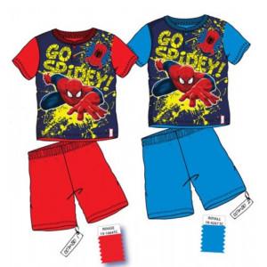 Pigiama bimbo ragno completino Bimbo maglia + pantaloncini Spiderman*21170 | pelusciamo.com