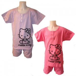 Pigiama Estivo donna Hello Kitty, Maglietta e Pantaloncini | pelusciamo.com