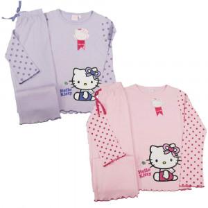 Pigiama Bambina Hello Kitty Pigiama Due Pezzi manica lunga Bimba | pelusciamo.com