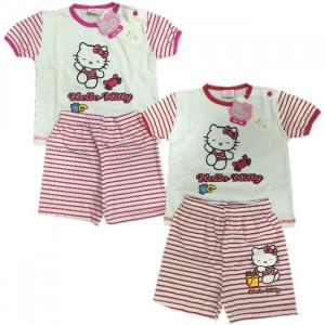 Pigiama Neonata Hello Kitty, Pigiamino Bimba 2 Pezzi Estivo   pelusciamo.com