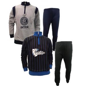 Tuta Pigiama Ragazzo Inter Felpato  Abbigliamento  Fc internazionale  | Pelusciamo.com