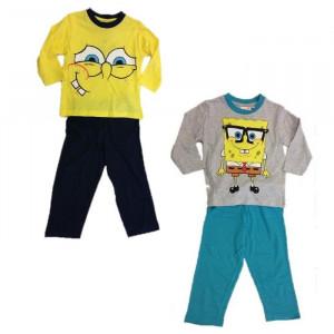 Pigiama Lungo Bambino Spongebob, Maglia e Pantaloni Bimbo | pelusciamo.com