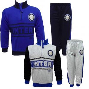 Pigiama Bimbo Inter Felpato Abbigliamento Calcio FC Internazionale PS 10204 Pelusciamo Store Marchirolo