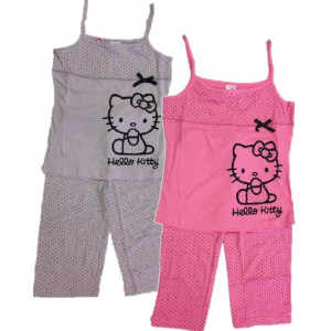 Pigiama donna Hello Kitty, Canotta e Pinocchietto PS 16134
