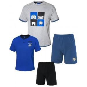 Pigiama Uomo Inter Corto Abbigliamento Calcio FC Internazionale PS 26842 Pelusciamo Store Marchirolo