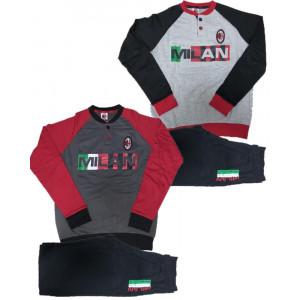 Pigiama Felpato Milan Ragazzo Abbigliamento Ufficiale Calcio AC Milan PS 10003