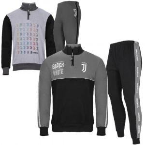 Pigiama Uomo Juve Felpato Abbigliamento Ufficiale Juventus PS 28232