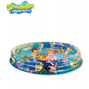 Piscina Gonfiabile 3 Anelli Spongebob, Patrick e Sandy 140x26 cm | pelusciamo.com