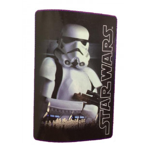 Plaid in pile Star Wars, Trooper 100x150 cm. Disney  04416 PELUSCIAMO