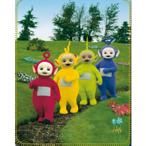 Coperta Plaid Teletubbies Po Dipsy Thinky Winky e Lala 80x110 *12578
