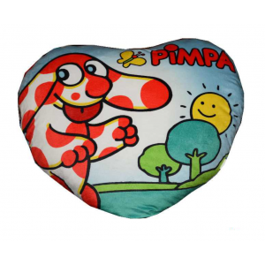 Cuscino in Peluche a Forma di Cuore Pimpa 70 cm Peluches Cartoni Animati
