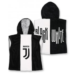 Poncho Juve JJ Bambino Ufficiale Juventus FC Accappatoio Bambino PS 10486