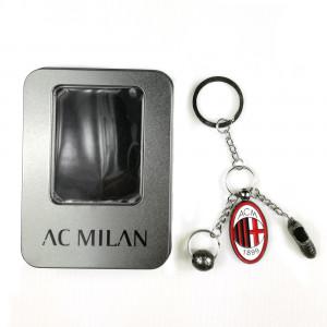 AC Milan Portachiavi  Ciondolo  Metallo  Accessori Ufficiali Calcio
