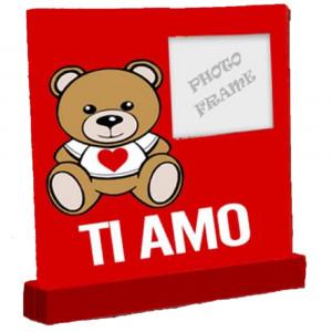 Portafoto teddy love orsetto ti amo san valentino 04961 pelusciamo store