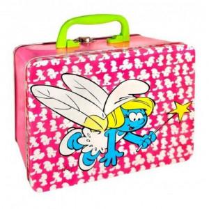 Box Portamerenda I Puffi Rosa PS 06240 Accessorio Asilo Scuola pelusciamo store