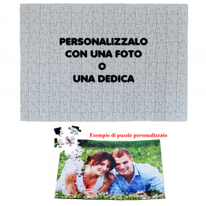 Puzzle 120 pz Personalizzabile 28x20 cm  | Pelusciamo.com