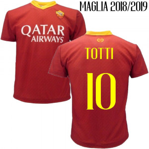 Maglia Totti As Roma Personalizzata Maglietta Replica 2018 2019 PS 27730Totti