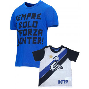 T-Shirt Bimbo Inter Abbigliamento Ufficiale Calcio FC Internazionale PS 26739 Pelusciamo Store Marchirolo