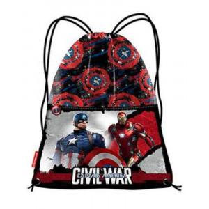 Sacca portatutto Captain America 41x35 cm *08245 cartoni animati pelusciamo store