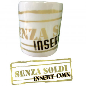 Salvadanaio In Ceramica Senza Soldi Insert Coin 10x8 Cm PS 09851