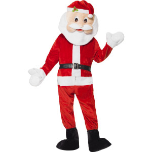 Costume carnevale travestimento natalizio Babbo Natale mascotte *01217 pelusciamo store
