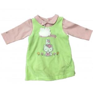 Scamiciato + Body Flair abbigliamento neonato Hello Kitty  *06217 pelusciamo store