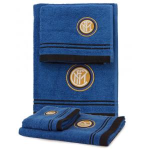Set bagno 2 Asciugamani grande e piccolo squadre calcio Inter *01715