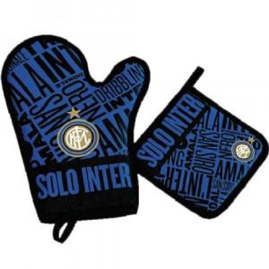Set Barbecue ufficiale F.C. Internazionale Inter 1 guanto + 1 presina  *PELUSCIAMO STORE