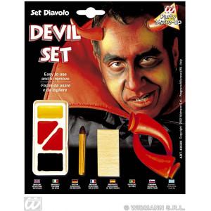 Set Trucco con Accessori da Diavolo  *24590 Halloween, Carnevale | pelusciamo.com