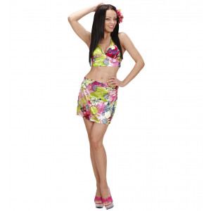 Set Hawaiana Top + Gonna PS 07057 Accessori Costume Carnevale  Pelusciamo store
