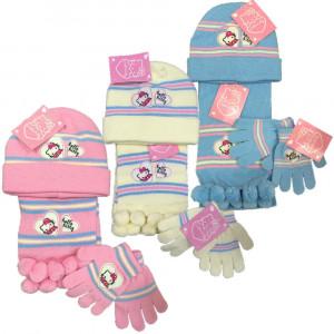 Set Invernale Bimba Hello Kitty Cappello, Sciarpa e Guanti | pelusciamo.com