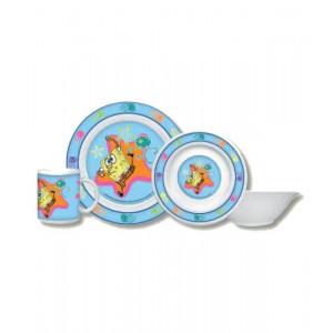Set pappa Spongebob piatto piano fonto e tazza ceramica *11052