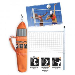 Set Multisport Rete Beach Volley, Badminton, Tennis Soccer PS 06760 PELUSCIAMO STORE