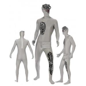 Costume Halloween Carnevale Adulto Seconda Pelle Robot zentai smiffys