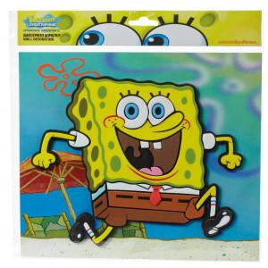 Adesivo 3D Spongebob Squarepants 40x34 cm.arredo casa  *04850 pelusciamo