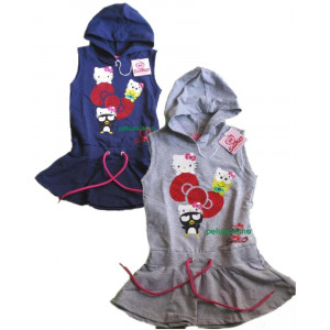 Vestito Hello Kitty Smanicato Bimba PS 10932 pelusciamo store