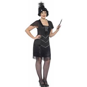 Costume Carnevale Charleston Flapper Travestimento Donna PS 25337 Taglie Forti Pelusciamo Store Marchirolo