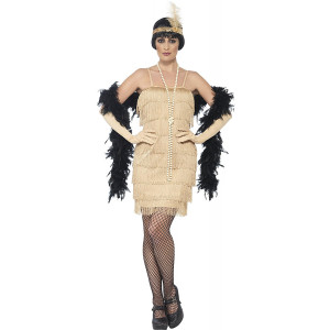 Costume Carnevale Donna Charleston Gold Flapper Gonna Corta PS 25332 Pelusciamo Store Marchirolo