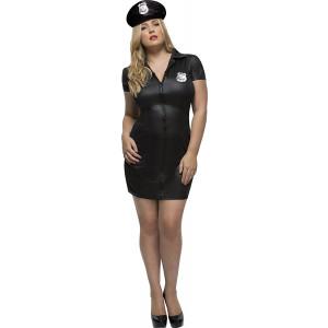 Costume Carnevale Donna Poliziotta Nero Cop Smiffys PS 07821 Pelusciamo Store Marchirolo