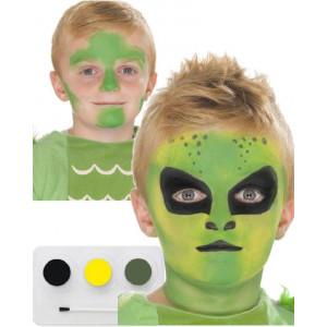 Truccabimbi Make Up Carnevale Halloween kit colori Alieno viso accessorio  | pelusciamo.com